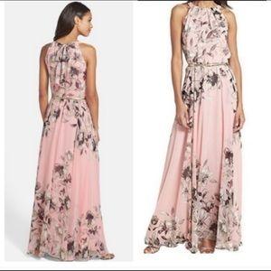 20682980f8e5 Women Eliza J Belted Chiffon Maxi Dress on Poshmark